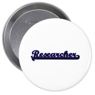 Researcher Classic Job Design 4 Inch Round Button