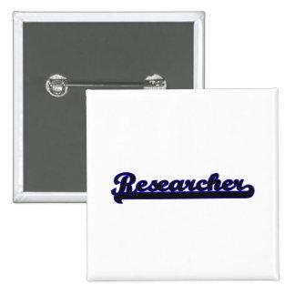 Researcher Classic Job Design 2 Inch Square Button