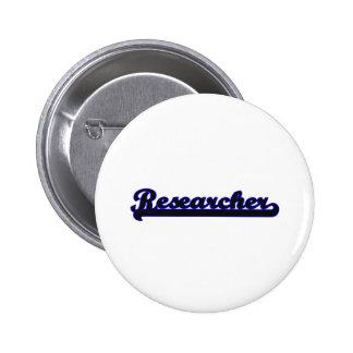 Researcher Classic Job Design 2 Inch Round Button