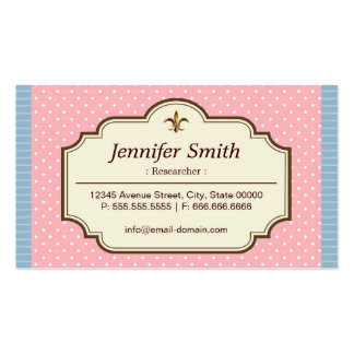 Researcher - Cute Polka Dots Double-Sided Standard Business Cards (Pack Of 100)