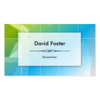 Researcher - Modern Elegant Simple Double-Sided Standard Business Cards (Pack Of 100)