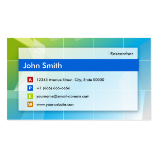 Researcher - Modern Multipurpose Double-Sided Standard Business Cards (Pack Of 100)
