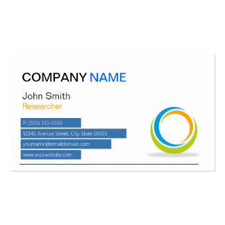 Researcher - Modern Sphere Double-Sided Standard Business Cards (Pack Of 100)