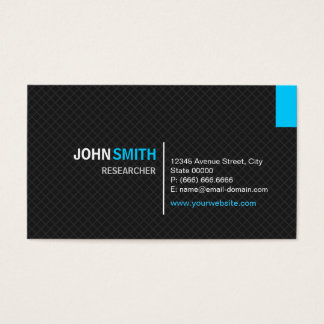 Researcher - Modern Twill Grid Business Card