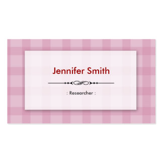 Researcher - Pretty Pink Squares Double-Sided Standard Business Cards (Pack Of 100)