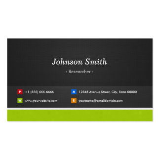 Researcher - Professional and Premium Double-Sided Standard Business Cards (Pack Of 100)