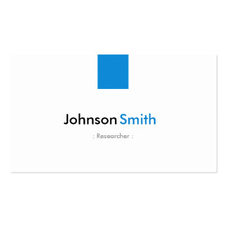 Researcher - Simple Aqua Blue Double-Sided Standard Business Cards (Pack Of 100)