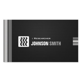 Researcher - Urban Black White Double-Sided Standard Business Cards (Pack Of 100)