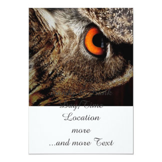 researchers looking owl 5x7 paper invitation card