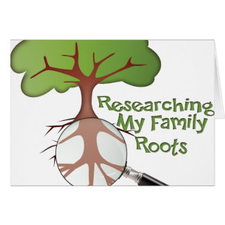 Researching my Family Roots Card