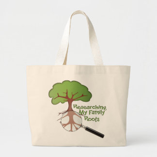Researching my Family Roots Large Tote Bag