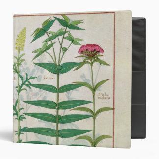 Reseda, Euphorbia and Dianthus 3 Ring Binder
