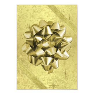 Resembles a Gold Foil Christmas Present Card