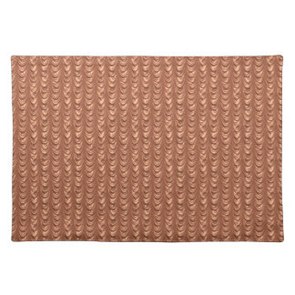 Resembles Luxurious Tangerine Ruched Satin Fabric Cloth Placemat