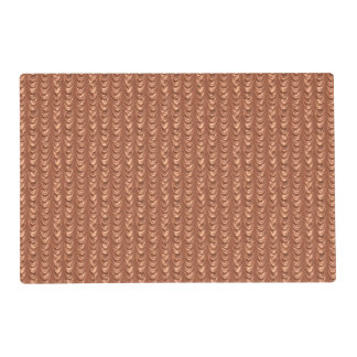 Resembles Luxurious Tangerine Ruched Satin Fabric Placemat