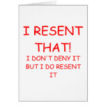 RESENT GREETING CARD