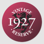 Reserva 1927 del vintage pegatina redonda