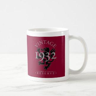 Reserva 1932 del vintage taza