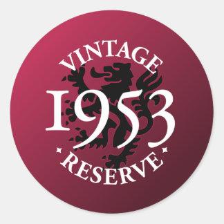 Reserva 1953 del vintage etiqueta redonda