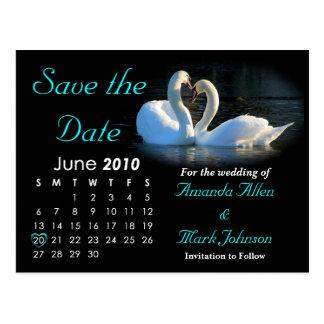 Reserva 2010 la fecha, casando la invitación tarjetas postales