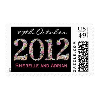 Reserva 2012 del boda el sello del monograma de la