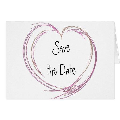 Reserva abstracta rosada del corazón la invitación tarjeta de felicitación