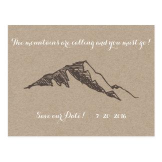 Reserva adaptable de la montaña la fecha postales