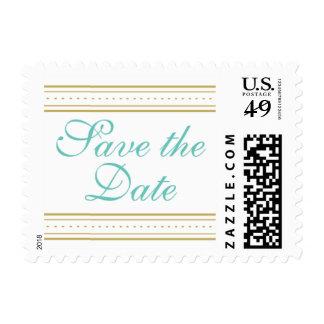 Reserva adornada del azul y del oro del vintage el sellos