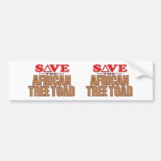 Reserva africana del sapo de árbol pegatina para auto
