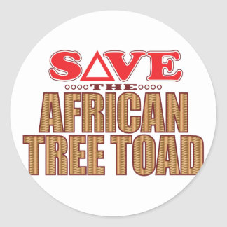 Reserva africana del sapo de árbol pegatina redonda