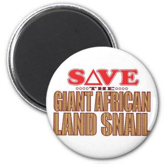 Reserva africana gigante del caracol de tierra imán redondo 5 cm