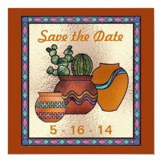 Reserva al sudoeste la invitación de la fecha invitación 13,3 cm x 13,3cm