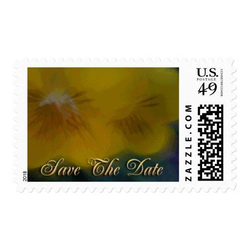 reserva amarilla de la flor la fecha sellos