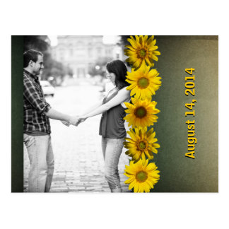 Reserva amarilla de papel de la foto del girasol d postal