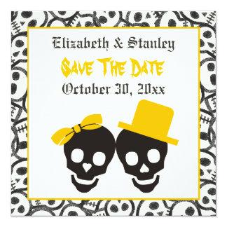 Reserva amarilla del boda de Halloween de los