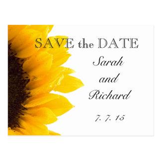 Reserva amarilla del girasol la postal de la fecha