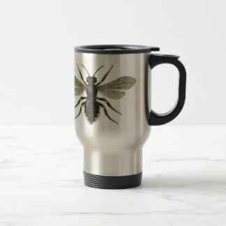 Reserva amarilla del negro de la abeja reina las a taza de café