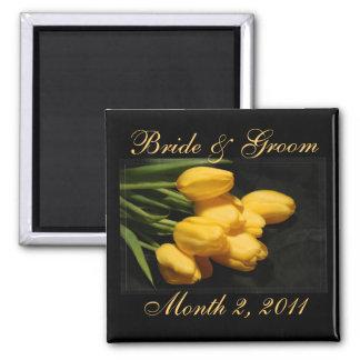 Reserva amarilla elegante del tulipán el imán del