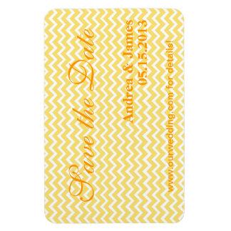 Reserva amarilla limón clásica de Chevron la fecha Imán Flexible