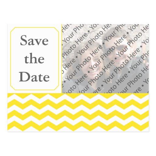 Reserva amarilla moderna del boda la postal de la