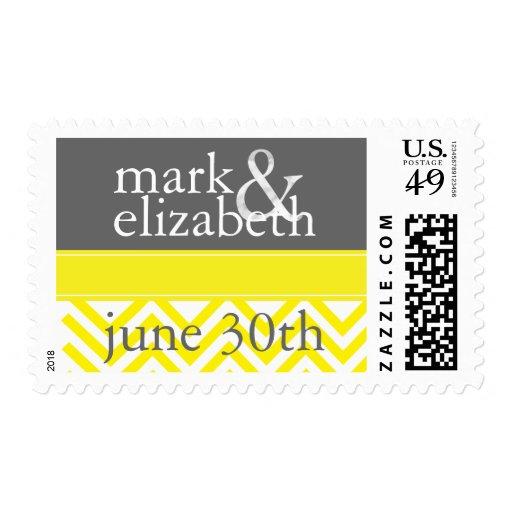 Reserva amarilla y gris de Chevron el sello de