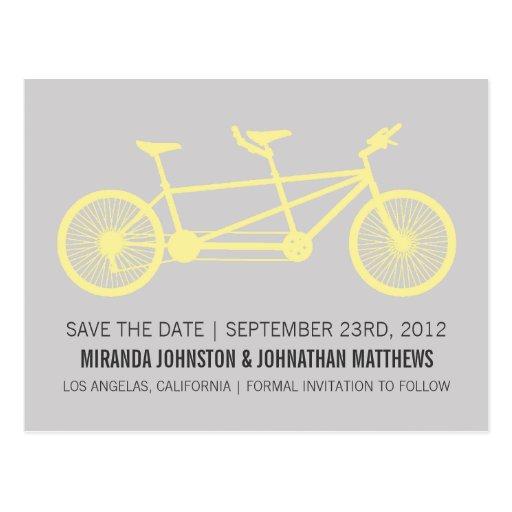 Reserva amarilla y gris de la bicicleta las postal