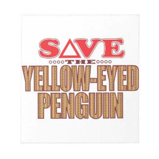 Reserva Amarillo-Observada del pingüino Libretas Para Notas