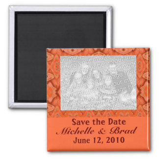 reserva amelocotonada del naranja la fecha imán para frigorífico