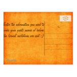 ¡Reserva anaranjada de Camo la fecha! Tarjeta Postal