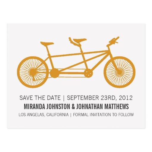 Reserva anaranjada de la bicicleta las postales de