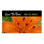 Reserva anaranjada de la flor la invitación de bod tarjeta de visita