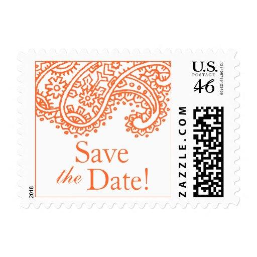 Reserva anaranjada de Paisley los sellos de la pos