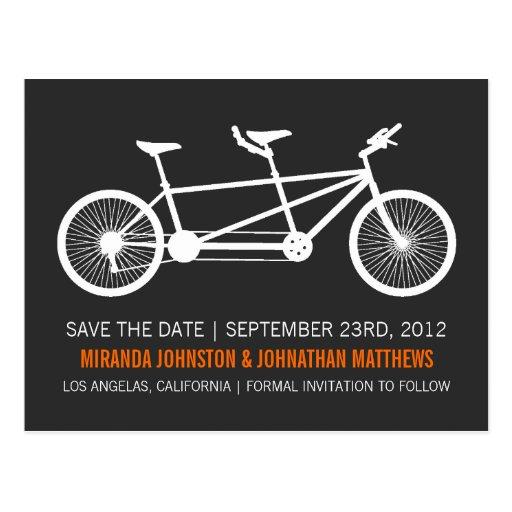 Reserva anaranjada del texto de la bicicleta las p postal
