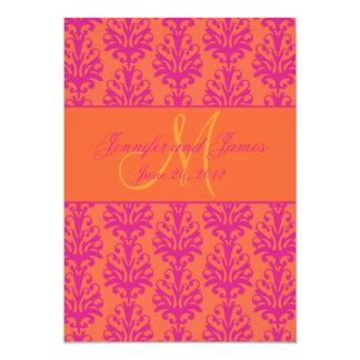 Reserva anaranjada fucsia del damasco de Oranate Anuncio Personalizado